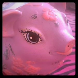 🎀🐽🌸Vintage Ceramic Pretty Piggy Bank🌸🐽🎀